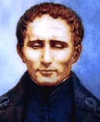 portrait of louis-braille in his 30's