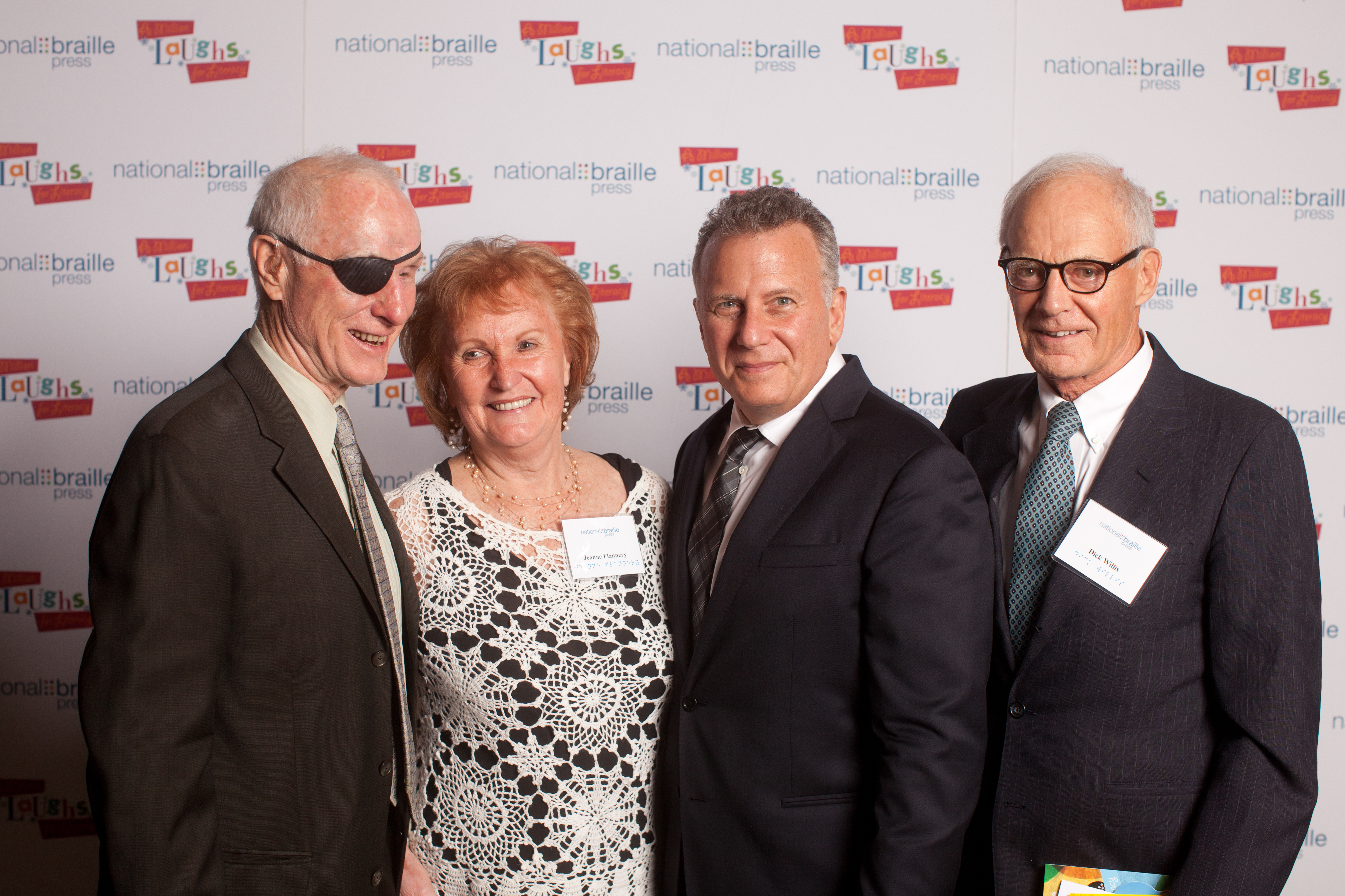 Bill Raeder, Jeanne Flanery, and comedian, Paul Reiser, withDick Willis at the 2013 A Million Laughs for Literacy Gala