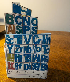 Pocket Periodic Table for Braille Readers