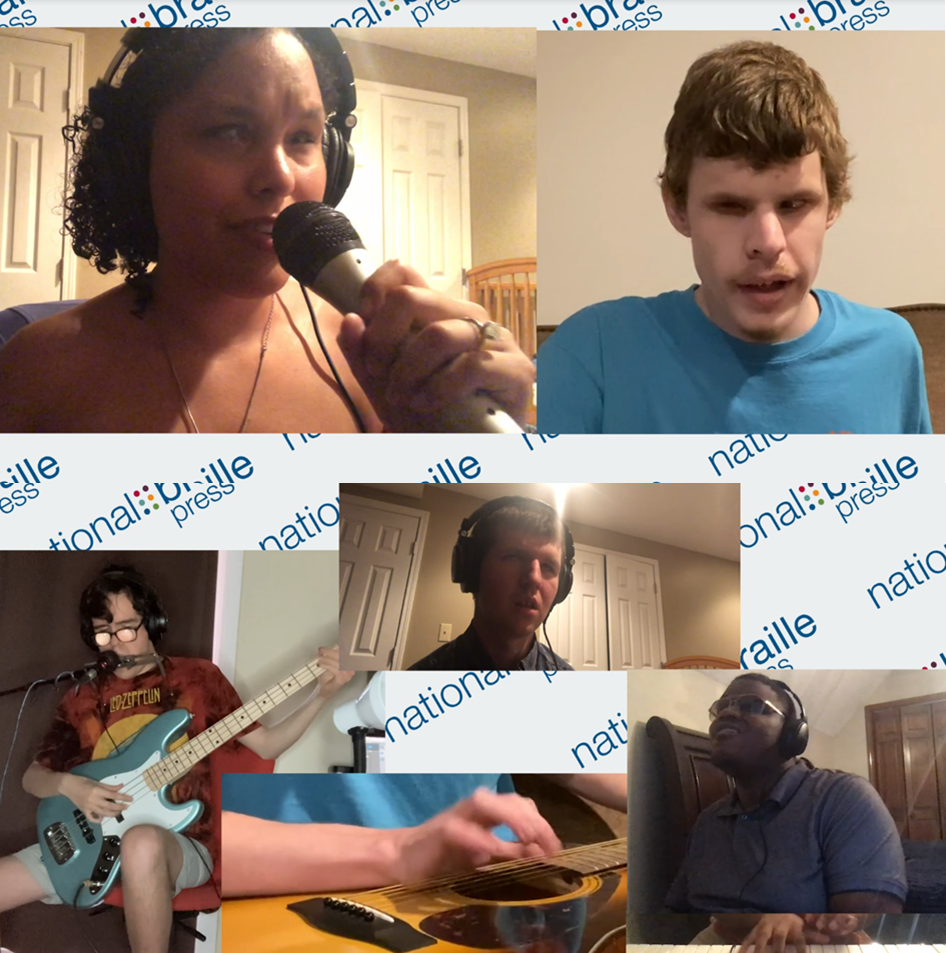 Screen shots of Gala Musicians, each performing from their own homes and streaming into the event.